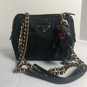 Authentic PRADA BAG ON CHAIN BAG